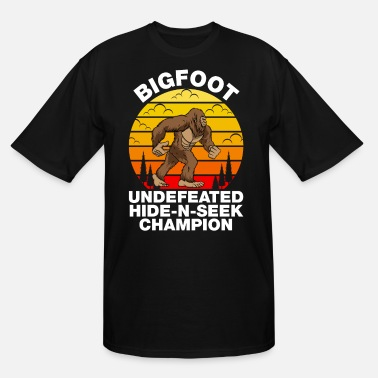 Yeti Funny - Bigfoot Hide-N-Seek Champion T-Shirt - Men's Tall T-Shirt