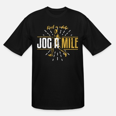 Iron Jogging Mile - Men's Tall T-Shirt