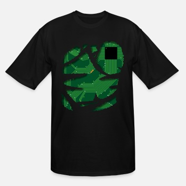 Circuit Board Technics CPU Shirt Robot Design Gift - Men's Tall T-Shirt