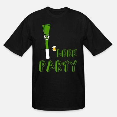 Mad Man Party leek with beer - Men's Tall T-Shirt