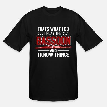 Band Bassoon Player Bassonist Wind Instrument Tenor - Men's Tall T-Shirt