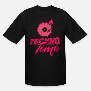 Deejay Techno Time - Drum & Bass - Men's Tall T-Shirt