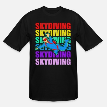 Vintage Skydiving Skydive Skydiver Parachute Base Jump - Men's Tall T-Shirt