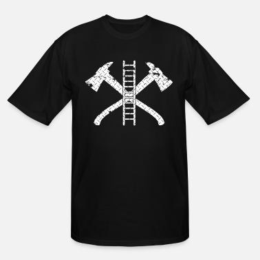 Fire Fireman Ax Fire Fighter Ladder Firefighter - Men's Tall T-Shirt