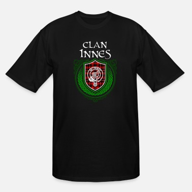 Crest Innes Surname Scottish Clan Tartan Crest Badge - Men's Tall T-Shirt
