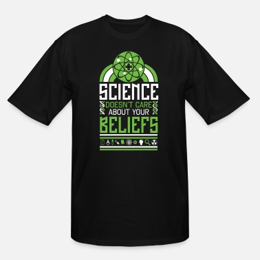Atheism Atheist Scientist - Science Religious Beliefs - Men's Tall T-Shirt