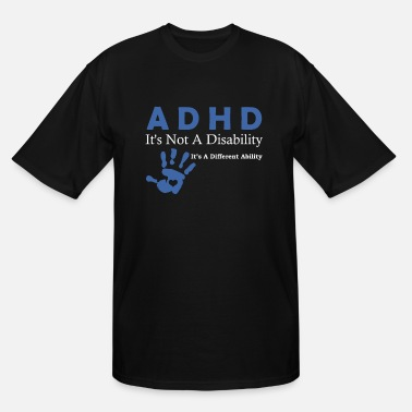 Attention Deficit Disorder Attention Deficit Disorder ADHD Awarenesss Design - Men's Tall T-Shirt
