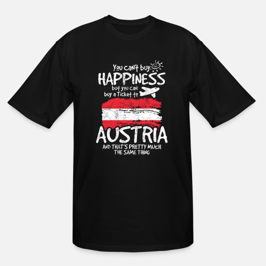 Austria T-Shirts - Austria - Men's Tall T-Shirt black