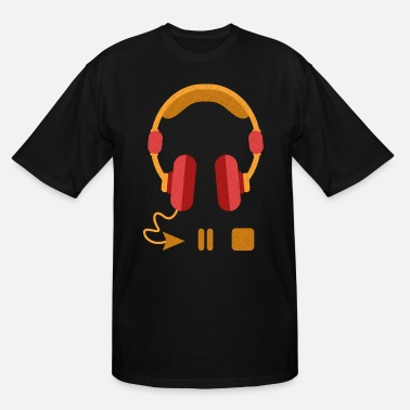 Playing Music Play Pause Repeat - Men's Tall T-Shirt