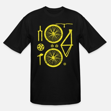 Road Bike Bicycle Parts Two-wheeler Specialized Hobby Crafti - Men's Tall T-Shirt