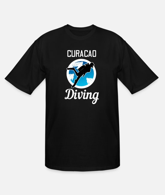 Water Sports T-Shirts - Curacao diving divers water sports - Men's Tall T-Shirt black