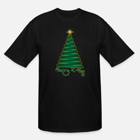 Night T-Shirts - Merry X-Mas - Men's Tall T-Shirt black