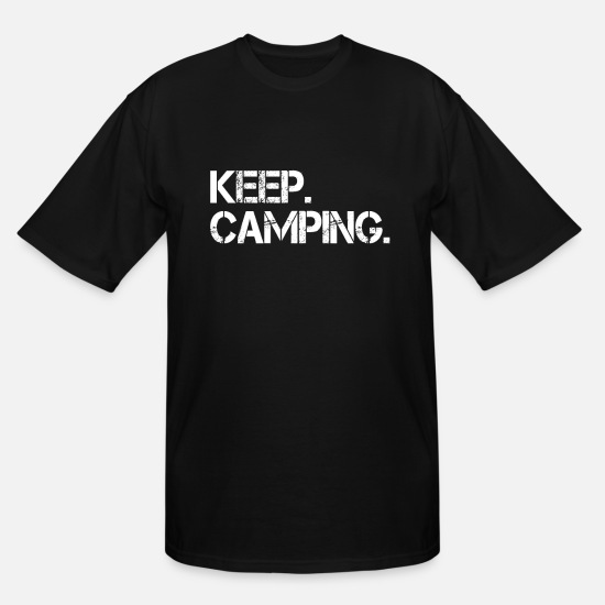 Nature T-Shirts - Camping - Men's Tall T-Shirt black
