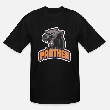 Aggressive Aggressive Panther - Men's Tall T-Shirt