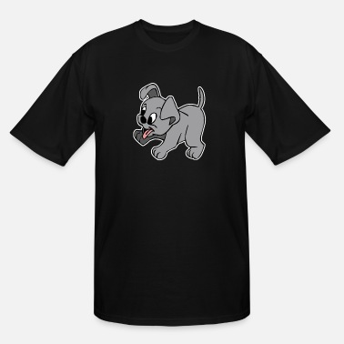 Nose Little Playful Puppy - Men's Tall T-Shirt