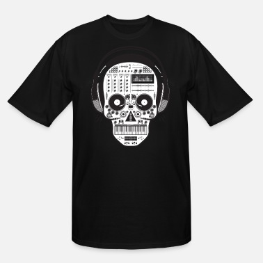 Hardstyle Skull DJ - Men's Tall T-Shirt