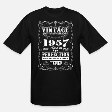 1957 Premium Vintage 1957 Aged To Perfection - Men's Tall T-Shirt