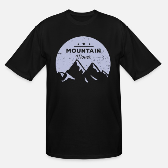 Mountains T-Shirts - Mountain mover - Men's Tall T-Shirt black