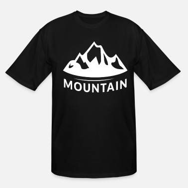 Mountains Mountain mountain mountains - Men's Tall T-Shirt