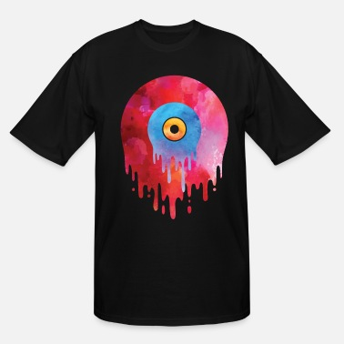 Vinyl Melting Vinyl Record T Shirt Music Graffiti DJ - Men's Tall T-Shirt