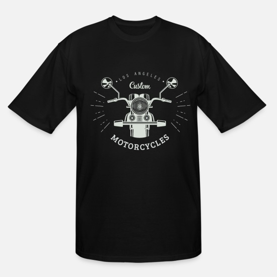 Motorcycle T-Shirts - Motorcycle Custom Bike - Men's Tall T-Shirt black