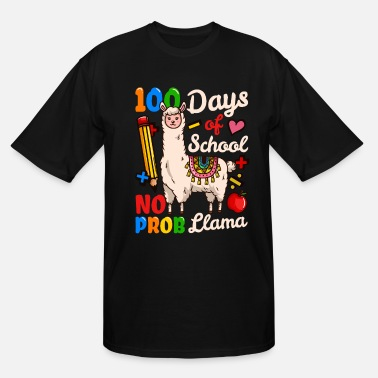 100 Days Of School 100 Days Of School Teacher Student - Men's Tall T-Shirt