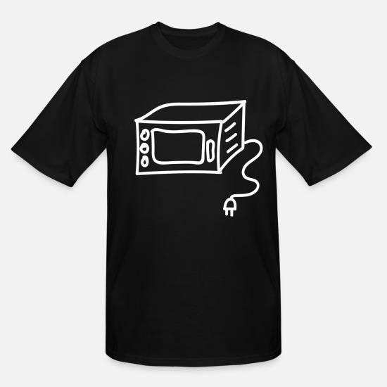 Cook T-Shirts - Microwave - Men's Tall T-Shirt black
