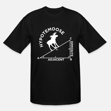 Geometry Math moose geometry school student quote gift - Men's Tall T-Shirt