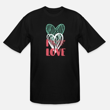 I Love I love - Men's Tall T-Shirt