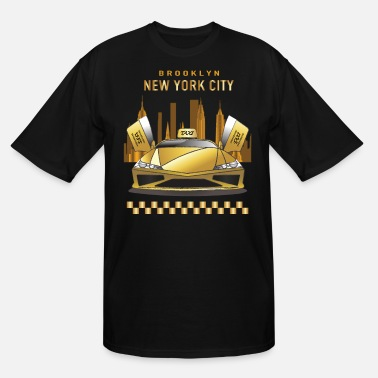 York New York City|Lamborghini Taxi|Traveler|Travel - Men's Tall T-Shirt