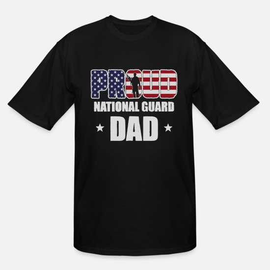 Dad T-Shirts - Veterans Day Proud National Guard Dad - Men's Tall T-Shirt black