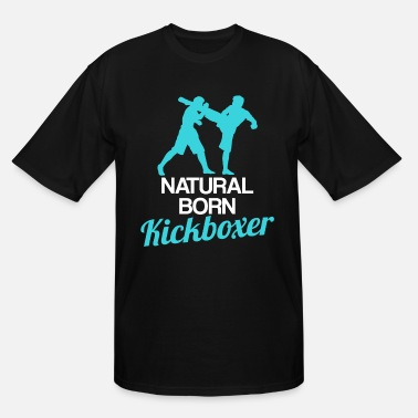 Coach Natural Born Kickboxer Funny Kickboxing Gift - Men's Tall T-Shirt