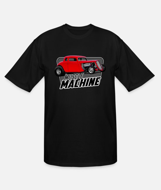 Red T-Shirts - Muscle Coupe - Men's Tall T-Shirt black