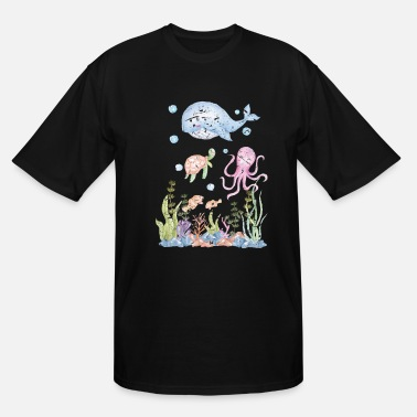 Aquarium Fish Sea Creature - Men's Tall T-Shirt