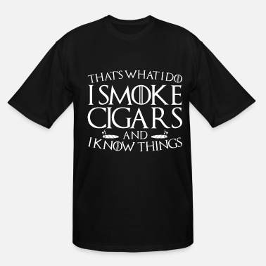Smoking Smoking Cigarette Smoker Smoke Cigar Funny Gift - Men's Tall T-Shirt