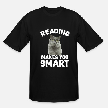 Inspiration Reading Cat Bookworm Literary Book Nerd Funny Gift - Men's Tall T-Shirt
