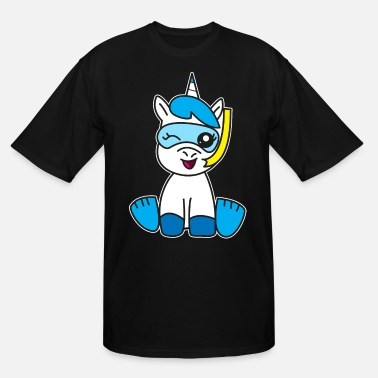 Kidz Unicorn in the bath fun - Men's Tall T-Shirt