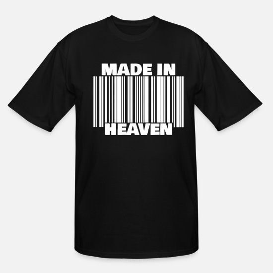 Divine T-Shirts - MADE IN HEAVEN heaven angels religion gift god - Men's Tall T-Shirt black