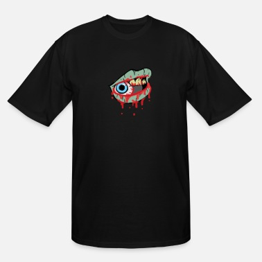 Ghost Zombie Lips - Men's Tall T-Shirt