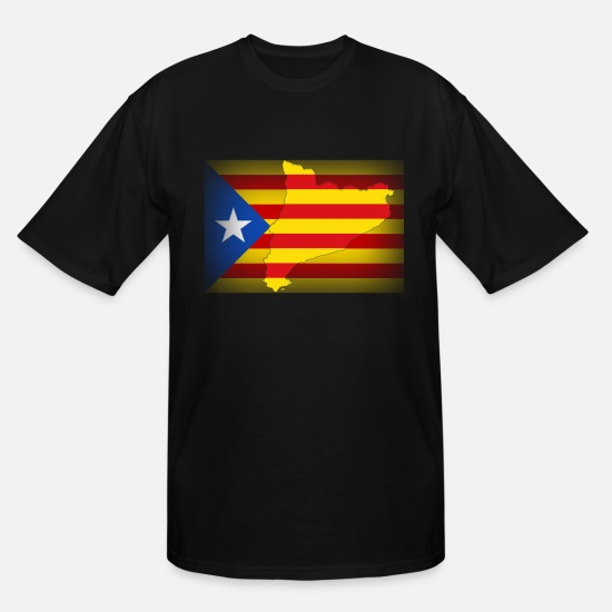 Catalan T-Shirts - El Pais De Catalonia - Men's Tall T-Shirt black