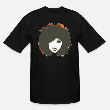 Afro Afro Cute Natural Hair Fro - Men's Tall T-Shirt