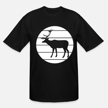 Deerskin Noble deer in the forest - Men's Tall T-Shirt