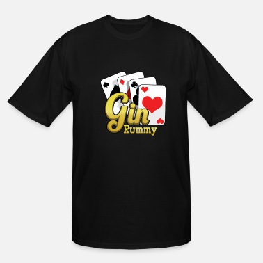Cards Gin Rummy Cards TwoPlayer Card Game French Cards - Men's Tall T-Shirt