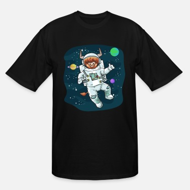 Bull Scottish Highland Cow Space Cow Bull Breeder Gift - Men's Tall T-Shirt