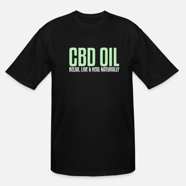 Hemp Relax Live & Heal Naturally | Cannabidiol, CBD Oil - Men's Tall T-Shirt