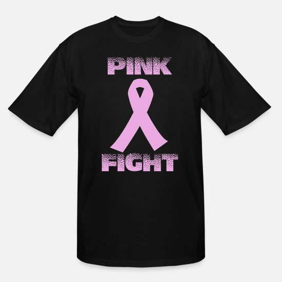 Cancer T-Shirts - pink fight breast cancer - Men's Tall T-Shirt black