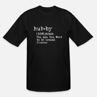 Couples Valentines Day Shirt, Hubby and Wifey Couples - Men's Tall T-Shirt