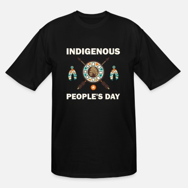 Wheel Indigenous People's Day Native American Pride T- - Men's Tall T-Shirt