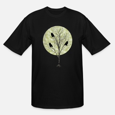 Owl Owls On A Tree - Men's Tall T-Shirt