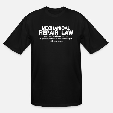 Mechanic Mechanic Car Bike Repair Funny Mens Tee Top Mechan - Men's Tall T-Shirt
